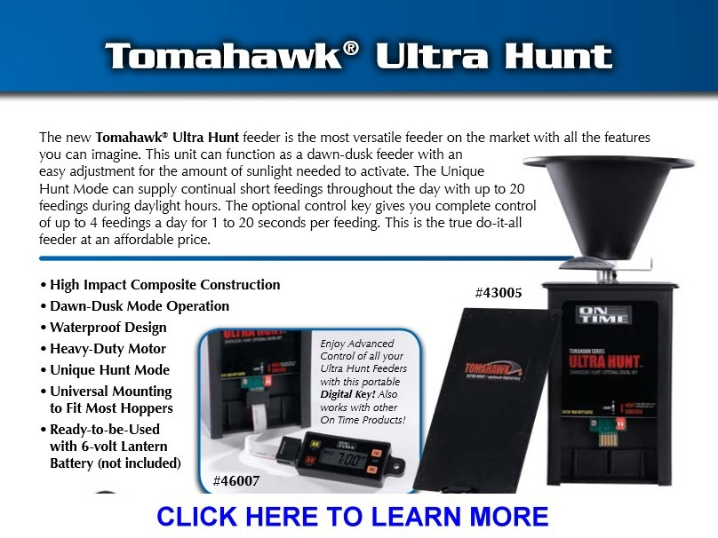 On Time Tomahawk Ultra             Hunt Wildlife Feeder