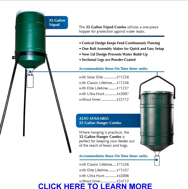 On Time Wildlife             Feeder Hopper Combinations