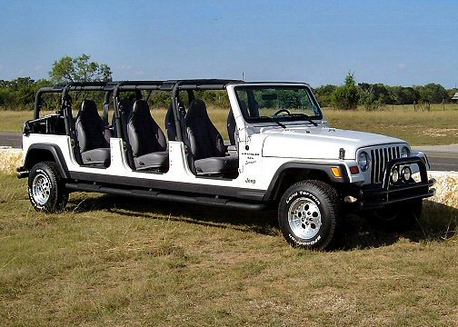 stretch 6 door wrangler limo