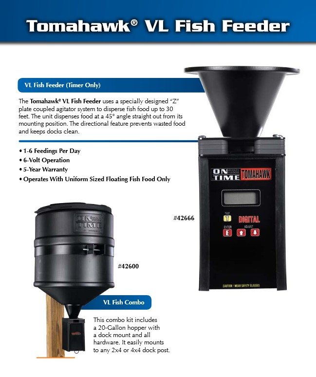 On Time VL Fish Feeder Combination